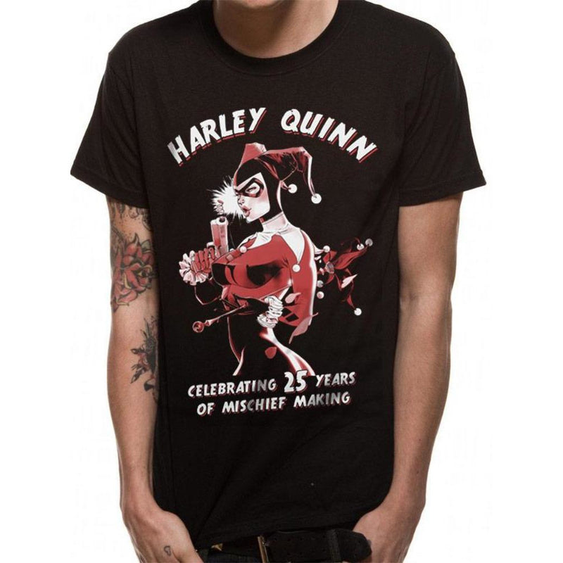 Official Harley Quinn Mischief T-Shirt Celebrating Of 25 Years DC Comics