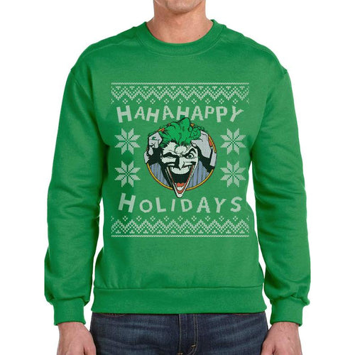 Joker | Ha Ha Happy Holidays Crewneck Sweatshirt