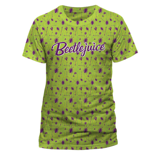 Beetlejuice | Beetle Pattern Sublimated Unisex T-Shirt