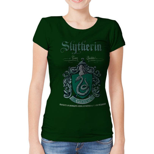 Harry Potter | Slytherin Team Quidditch Fitted T-Shirt