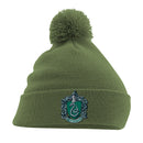 Harry Potter | Slytherin Crest Pom Pom Beanie