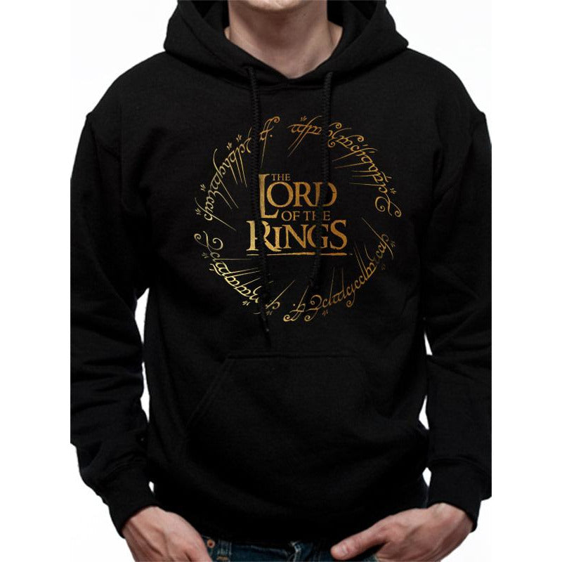 Lord Of The Rings | Gold Foil Logo Pullover Hoodie