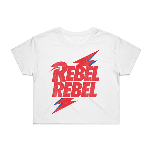 David Bowie - Rebel Rebel Crop Top