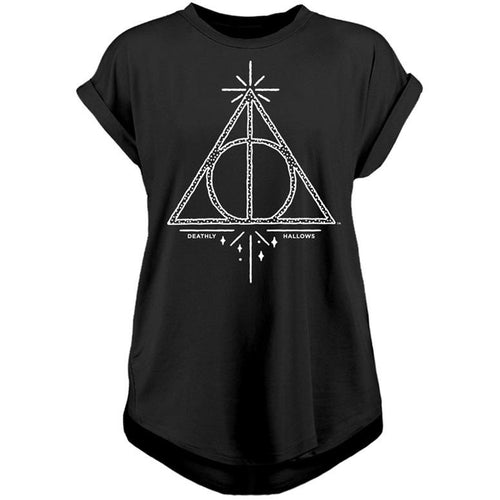 Harry Potter - Deathly Hallows Reckless Ladies T-Shirt Black