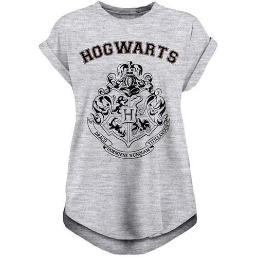 Harry Potter - Hogwarts Reckless Ladies T-Shirt Grey Marl
