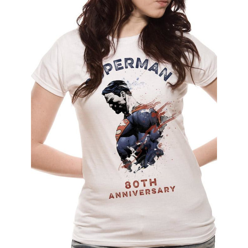 Superman 80th Anniversary Fitted T-Shirt