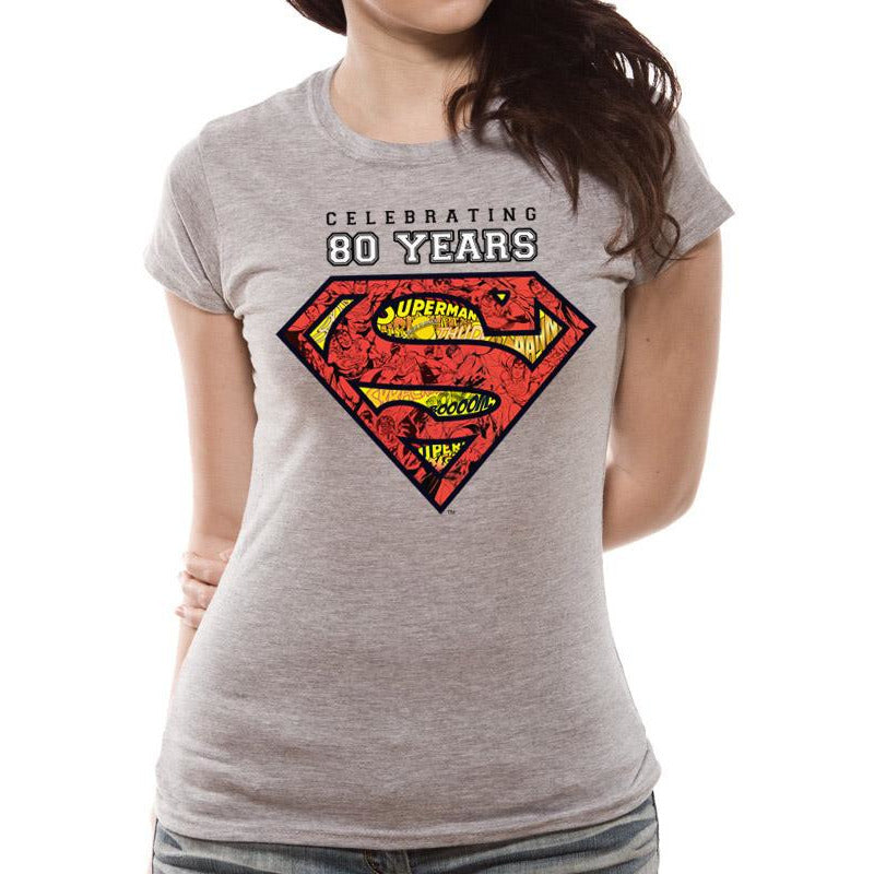 Superman Celebrating 80 Years Fitted T-shirt