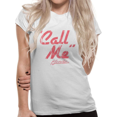 Blondie | Call Me Ladies Fitted T-Shirt