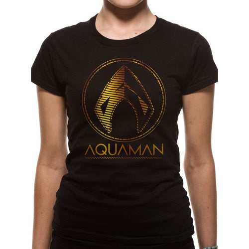 Aquaman Movie - Metallic Symbol Fitted T-Shirt
