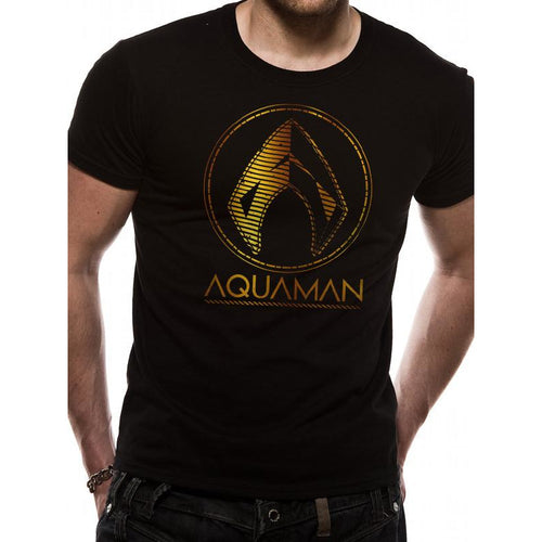 Aquaman Movie - Metallic Symbol Unisex T-Shirt