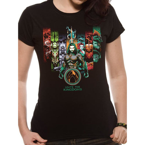 Aquaman | Unite The Kingdoms Fitted T-Shirt