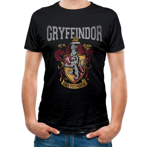 Harry Potter | Gryffindor Varsity Crest Black T-Shirt
