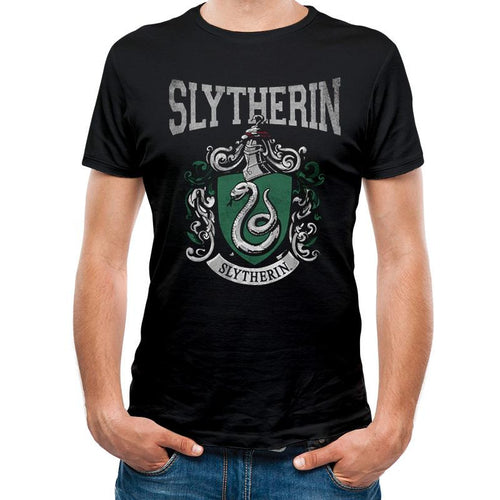 Slytherin Varsity Crest Black T-Shirt