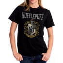 Harry Potter | Hufflepuff Varsity Crest Black T-Shirt