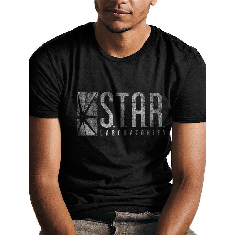 The Flash | Distressed Star Labs | T-Shirt