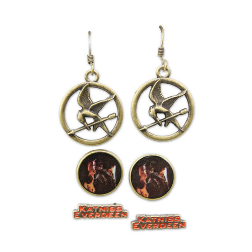 The Hunger Games: Girl On Fire | Katniss Everdeen Earrings Set Of 3