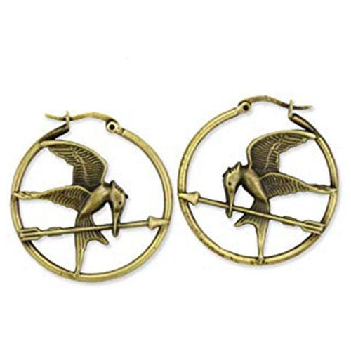 The Hunger Games: Girl On Fire | Mockingjay Hoop Earrings