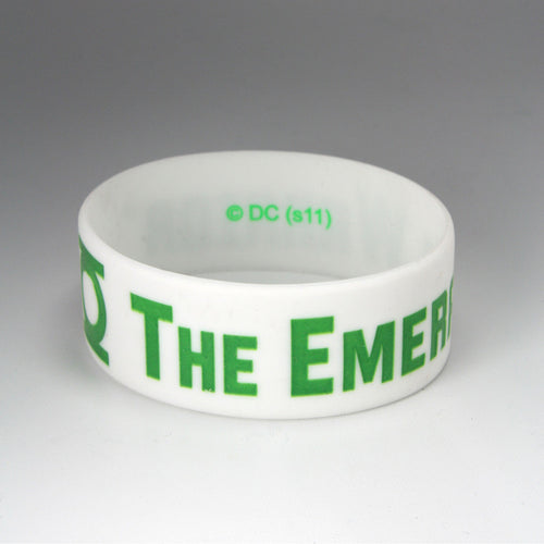 Green Lantern | Thick Emerald Warrior Rubber Bracelet