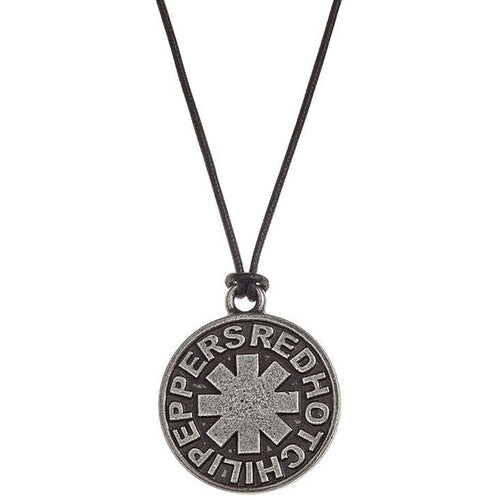 Red Hot Chili Peppers (Asterisk Round) Pendant On Cord Chain