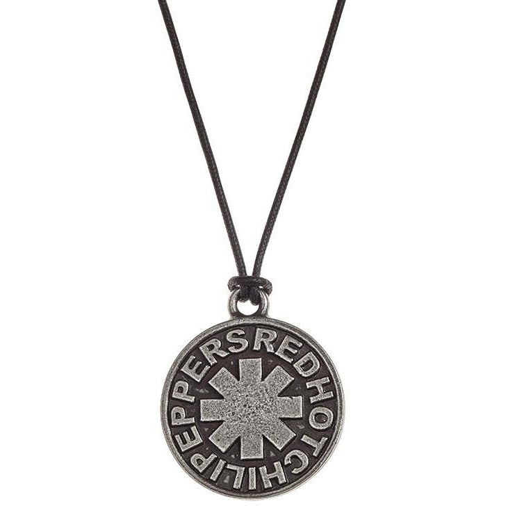 Red Hot Chili Peppers - Asterisk Round Pendant On Cord Chain