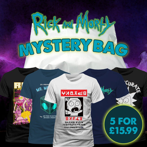 5 Rick and Morty T-Shirt Mystery Bag