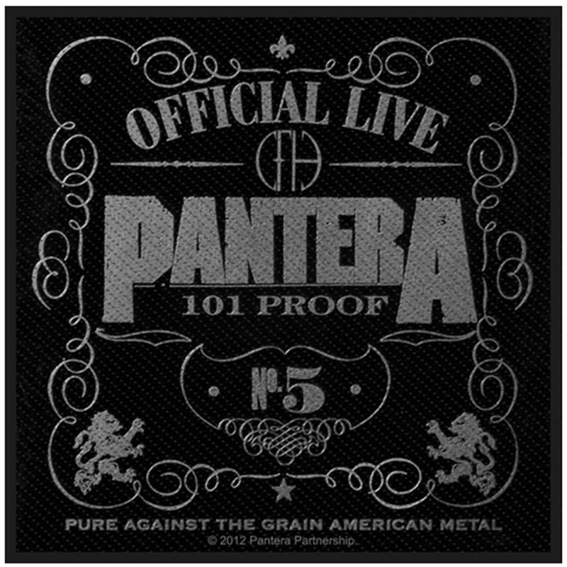 Pantera - Official Live 101% Proof Standard Patch