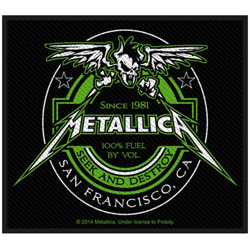 Metallica (Beer Label) Standard Patch