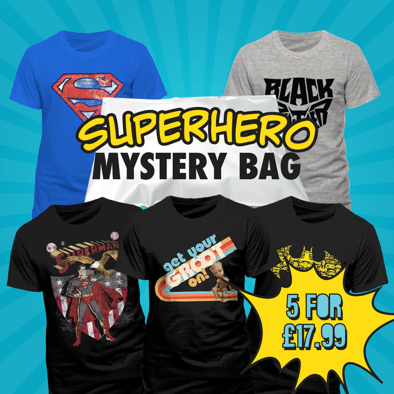 Superhero 5 T-Shirt Mystery Bag