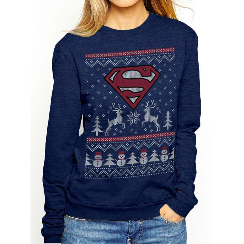 Buy Superman (Reindeer & Snowman) Crewneck online at Loudshop.com