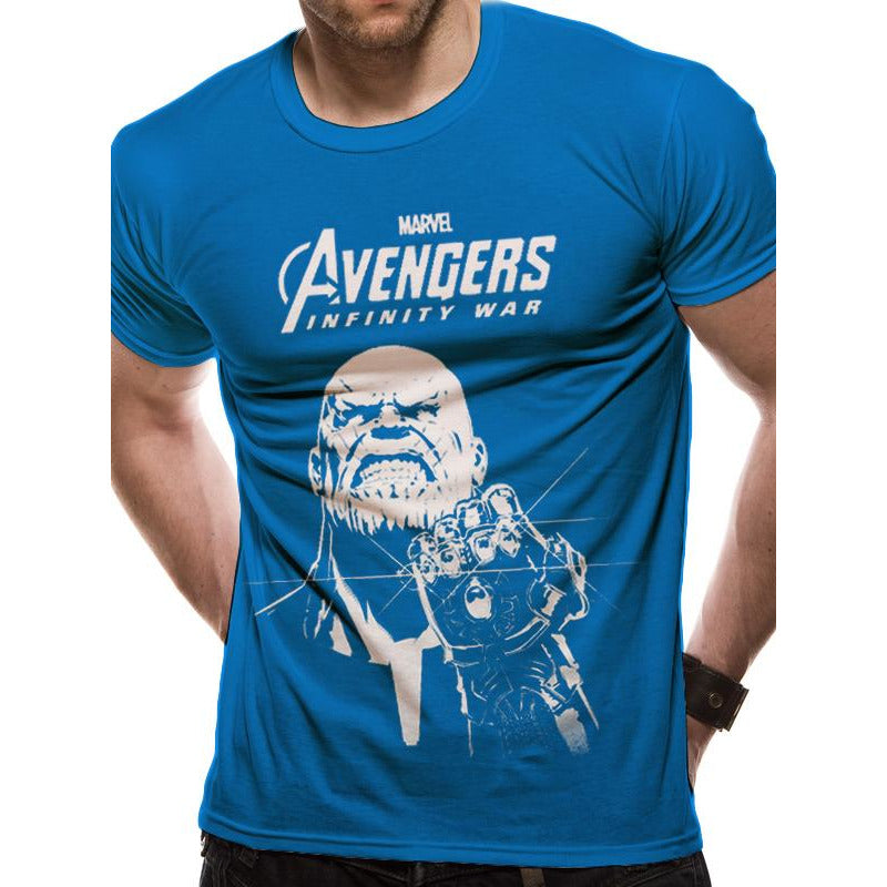 elegant appearance hot-seeling original uk availability Buy Avengers: Infinity Avengers Infinity War | Blue Thanos T-Shirt at  Loudshop.com for only £12.99