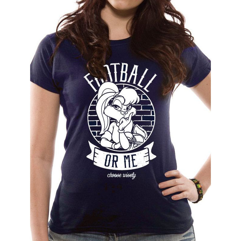 Looney Tunes - Football or Me Fitted T-shirt