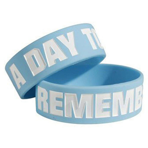 A Day To Remember | Light Blue Rubber Wristband