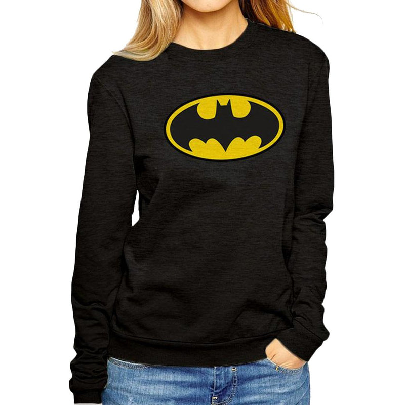Batman - Logo Fitted Crewneck Sweatshirt