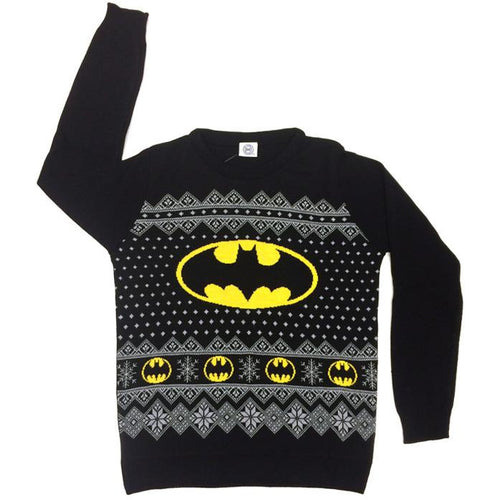 Batman - Knitted Christmas Logo Jumper