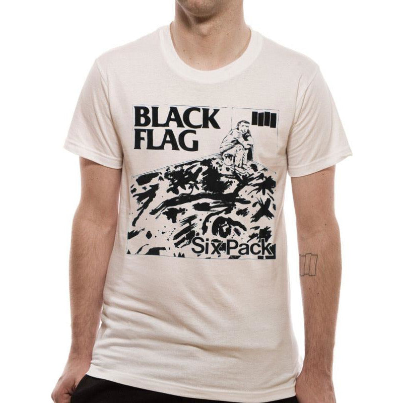3c8e2f53c Buy Black Flag - Six Pack T-shirt at Loudshop.com for only £7.00