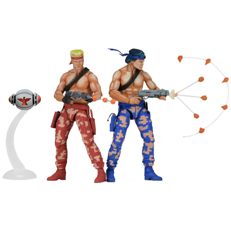 "Contra | Bill & Lance Video Game Appearance 7"" Action Figures x 2"
