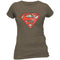 Superman | Distressed Logo Grey T-Shirt