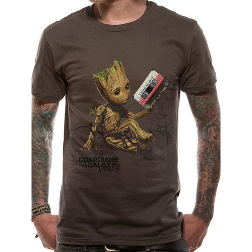 Guardians Of The Galaxy Vol 2 | Groot & Tape Uk T-Shirt