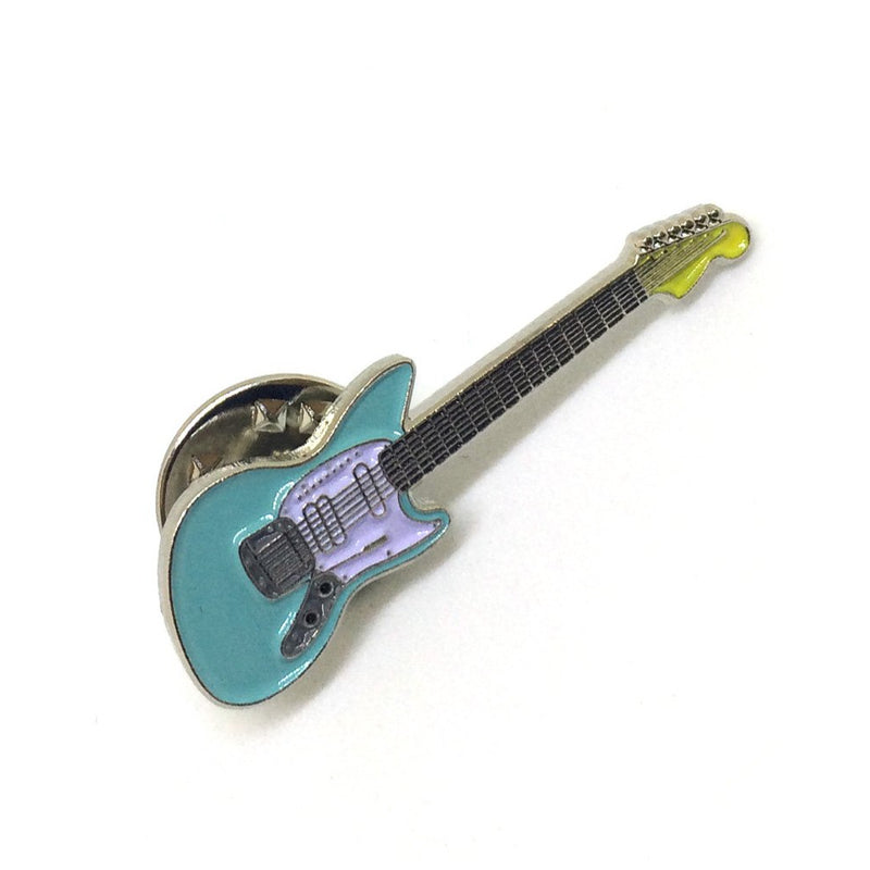 Sonic Blue Offset Guitar Pin Badge