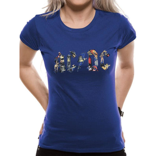 Buy AC/DC (Blue Ladies) T-Shirt online at Loudshop.com
