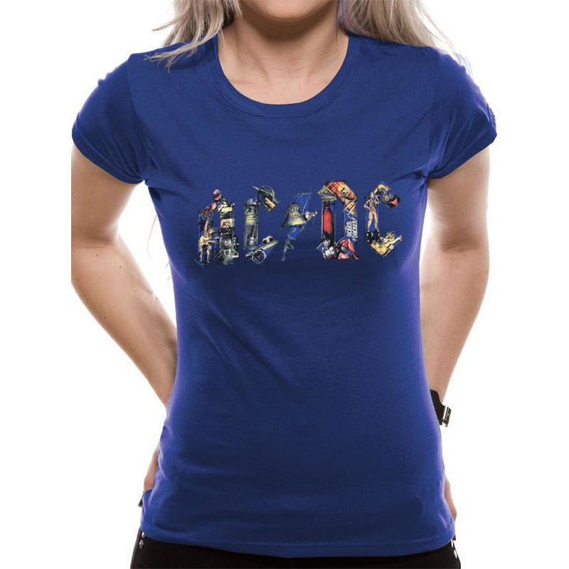 AC/DC | Ladies Blue T-Shirt