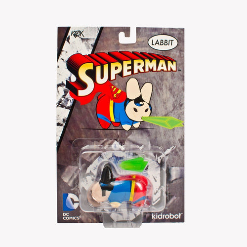"Kidrobot x Kozik DC Comic Superman 2.5"" Vinyl Figure Labbit"