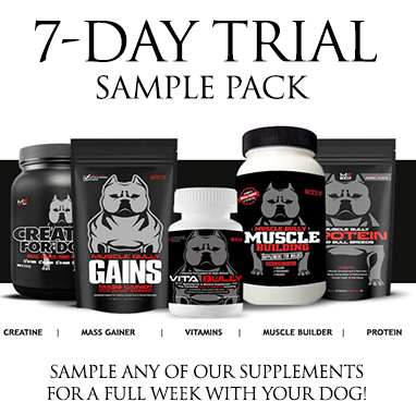 Sample Muscle Bully Products.