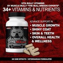 Load image into Gallery viewer, 3 Pack Muscle Stack, Includes Bully Beast, Vita Bully Vitamins & Protein, Supports Muscle Growth & Definition.