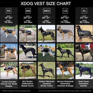 XDOG™ Weight Vest for Dogs, Build Healthy Muscle, Increase Size & Improve Overall Health.