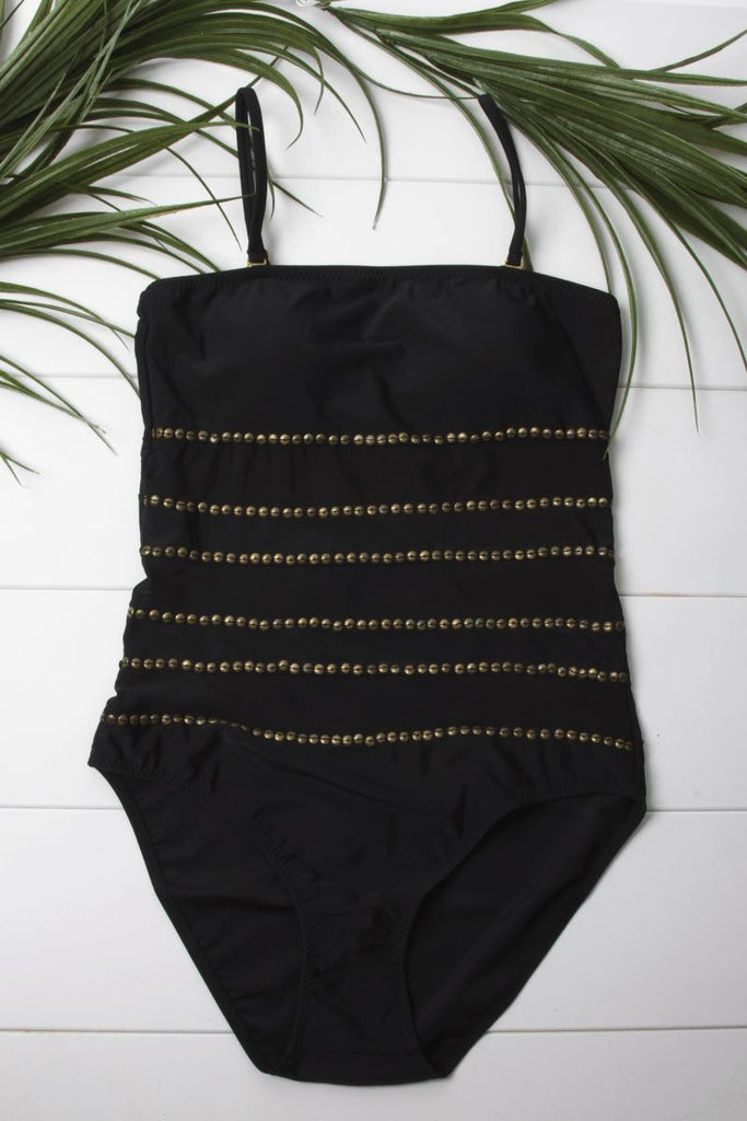 Nora Black Studded One Piece