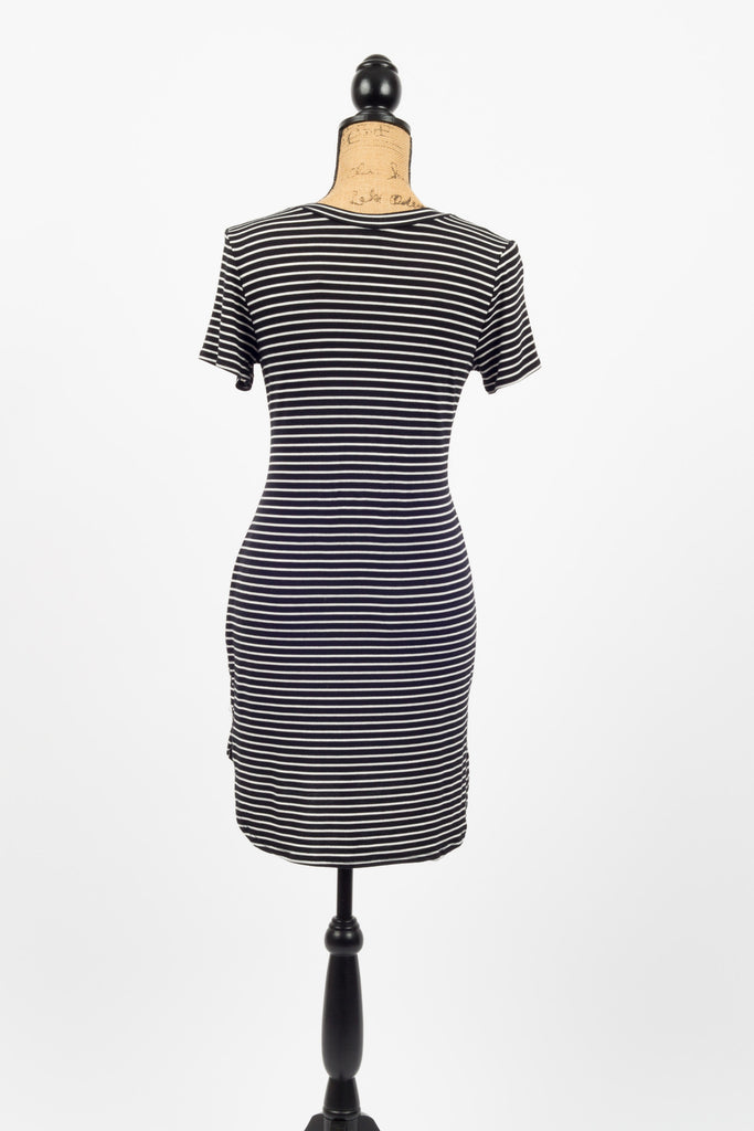 Sophia Striped T Shirt Dress