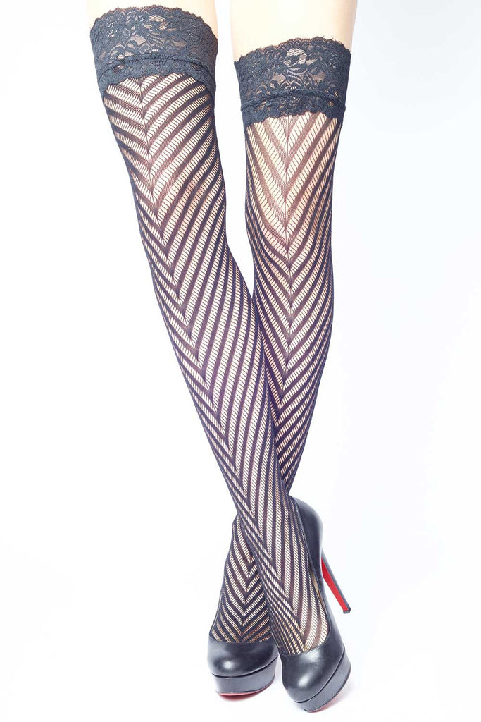 Chevron Pattern Fishnets