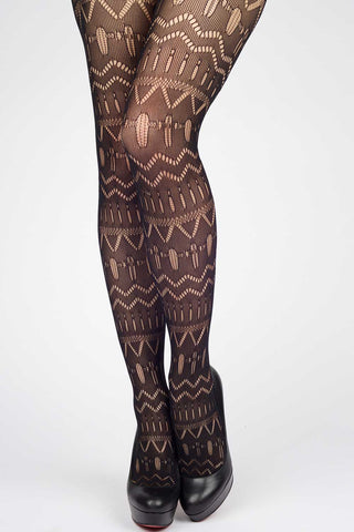Illustrated Flora Fishnet Stockings