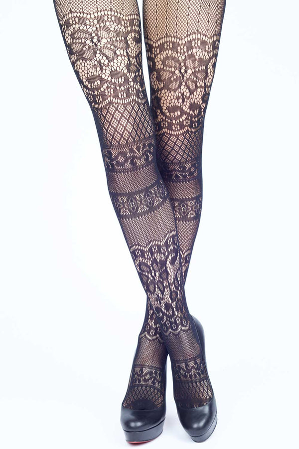 065f830c4fc Intarsia Lace Fishnet Stockings